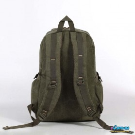 canvas traveling laptop backpack army green for men