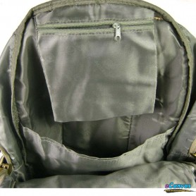 canvas laptop backpack army green
