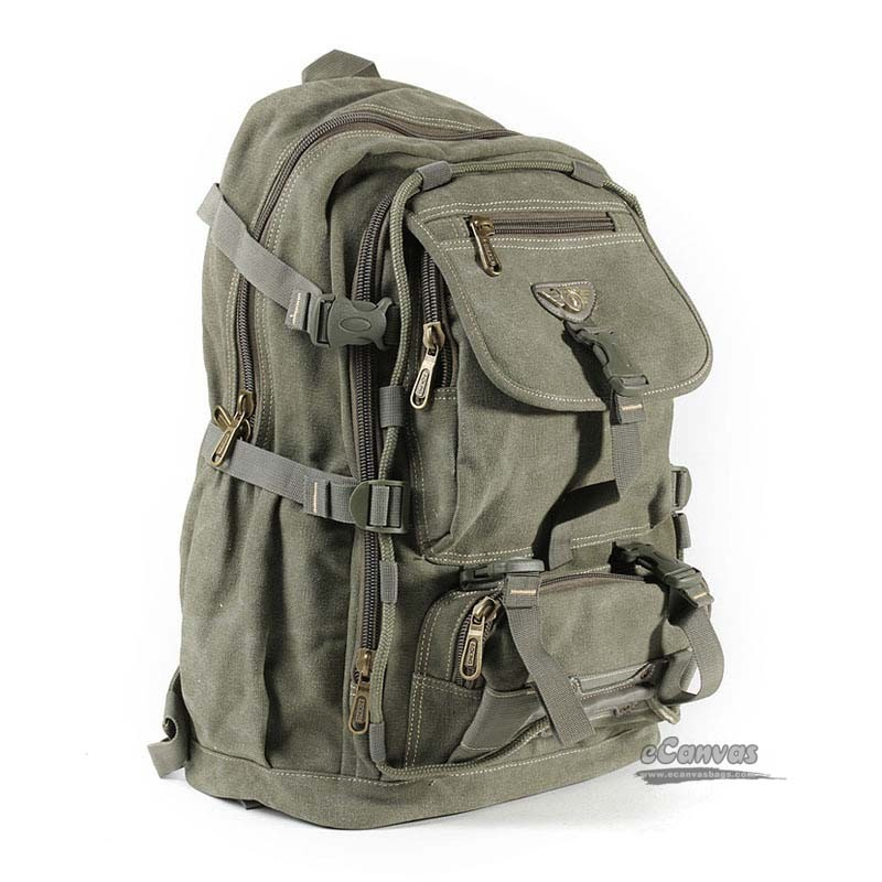 Canvas Travel Mountaineering Backpack 15 6 Inch