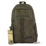 college travel canvas laptop rucksack army green