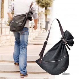 mens Messenger sling body bag backpack black