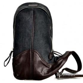 black messenger sling bag