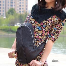 womens black messenger sling bag