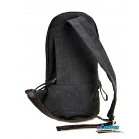 girls black messenger sling bag