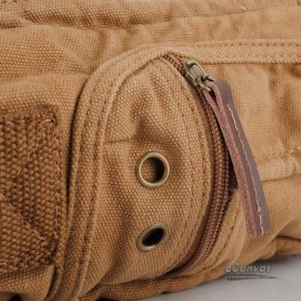 Canvas shoulder bag khaki for men
