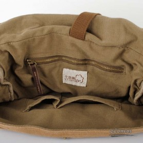 mens Canvas shoulder bag khaki