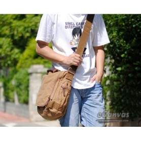 boys Canvas shoulder bag khaki