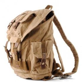 Khaki climbing back left shoulder bag for men