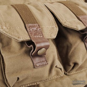 mens Khaki climbing back left shoulder bag
