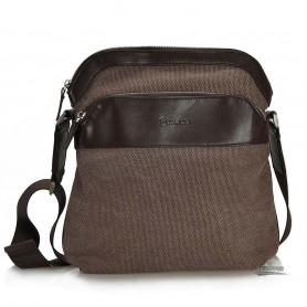 Over the shoulder bag, messanger bag, black, coffee