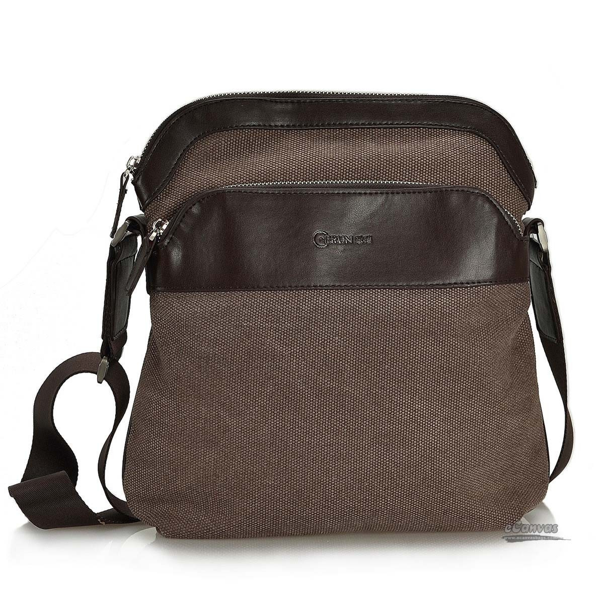 Over the shoulder bag, messanger bag, black, coffee - E-CanvasBags