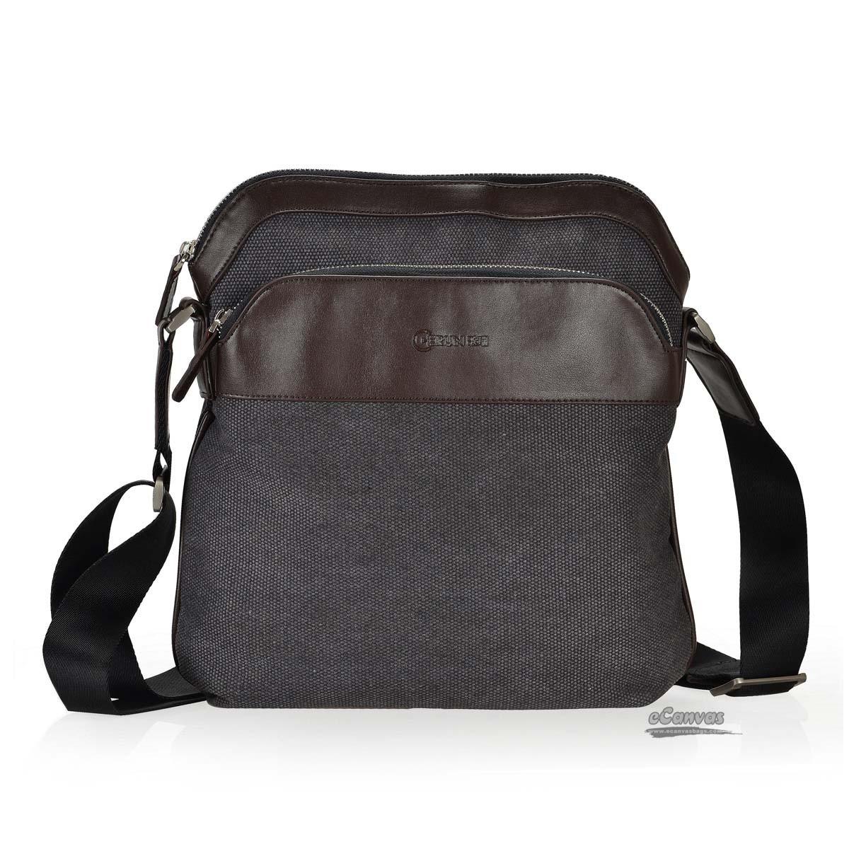 Over the shoulder bag, messanger bag, black, coffee - E-CanvasBags