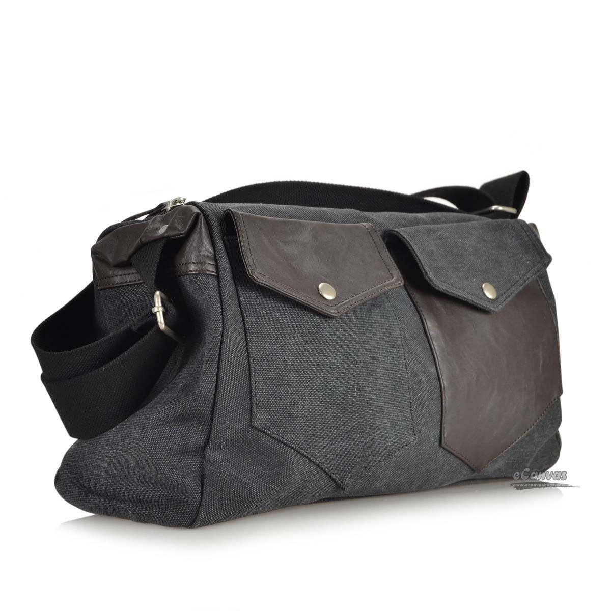 Best messenger bag, overnight large travel bag, coffee, black - E ...