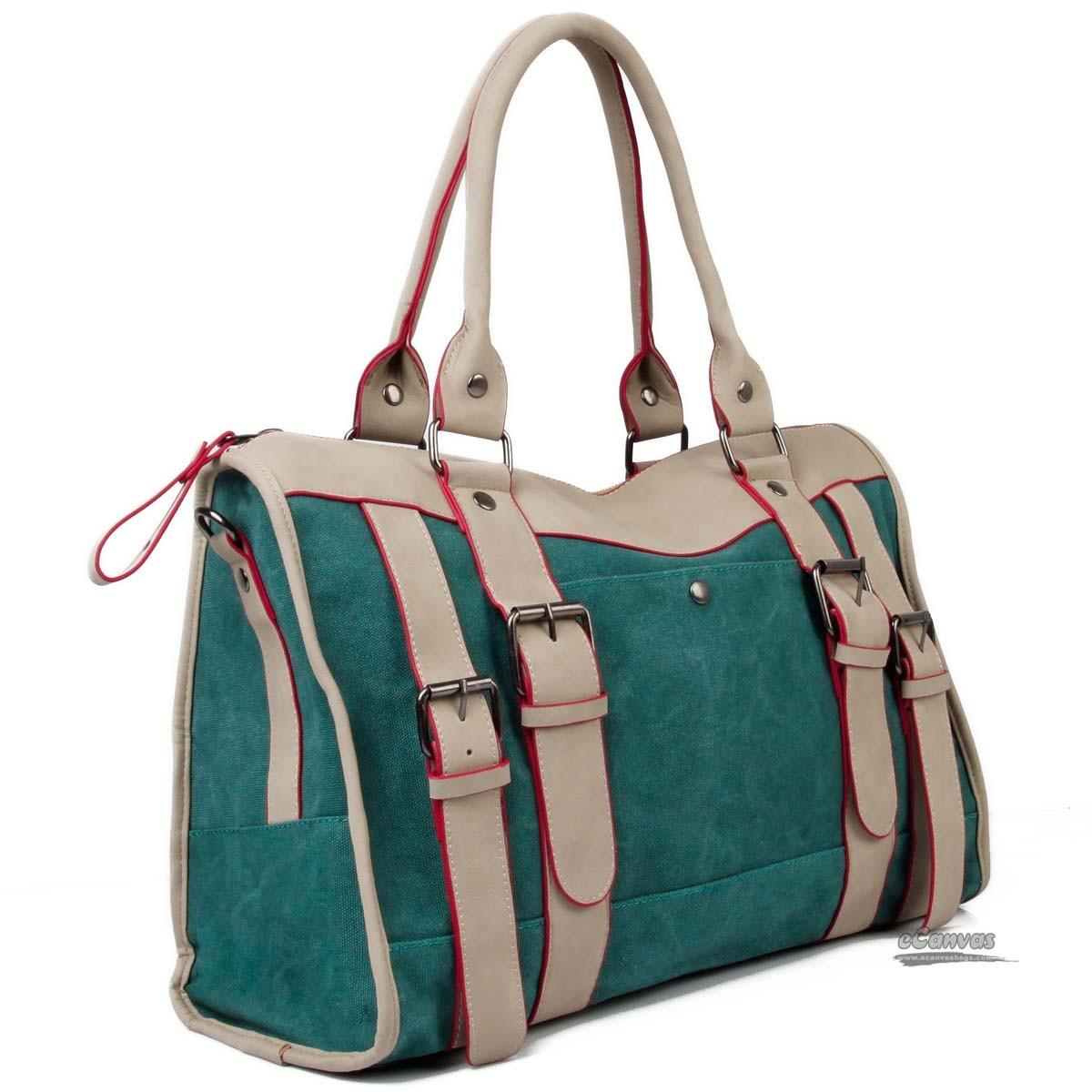 Retro canvas bag, shoulder bag for girls, 6 colors - E ...
