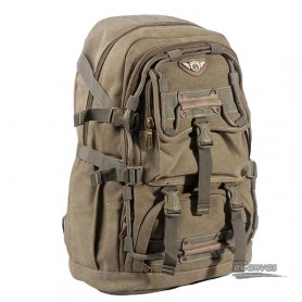 Large capacity backpack khaki