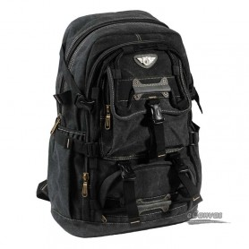 Large capacity backpack black