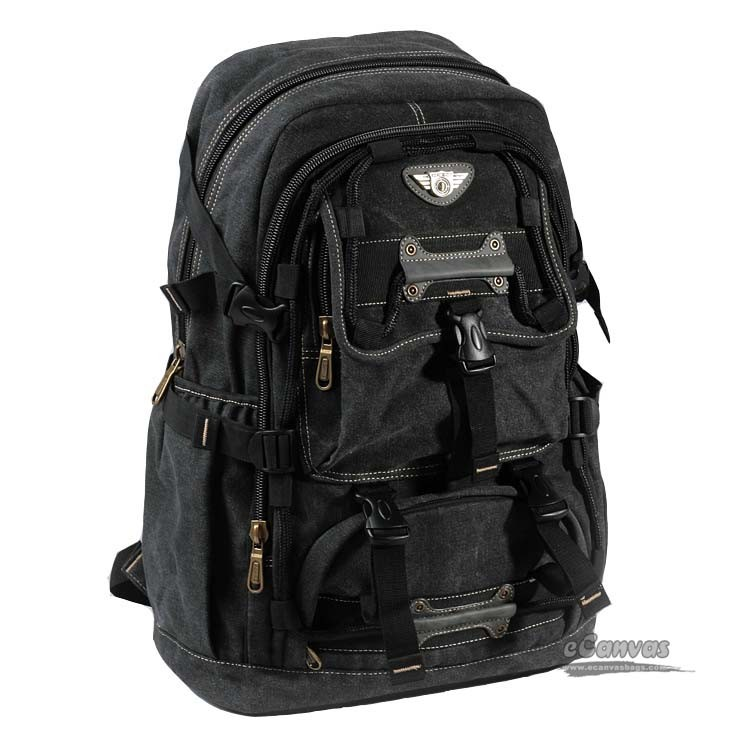 Large capacity backpack, mens multiple pockets laptop bag, 3 ...