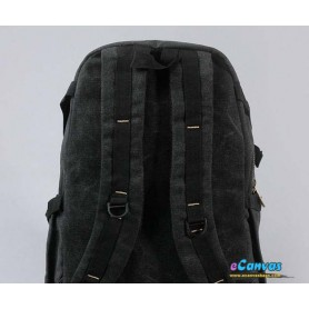 black mens multiple pockets laptop bag