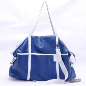 Canvas messenger bag blue