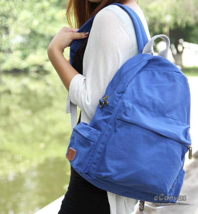 141e8d70ac Canvas laptop ipad backpack, detachable water bottle pocket, 6 ...