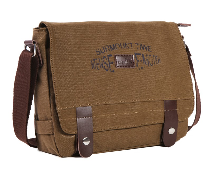 Black messenger bags for men