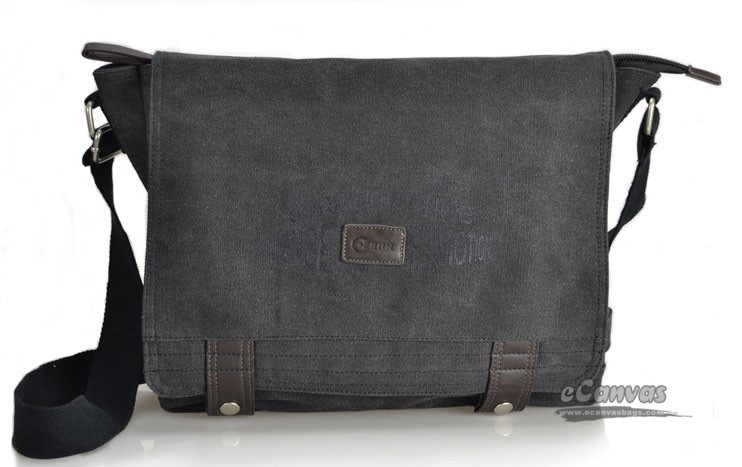 ... Canvas mens messenger bag black for mens ... 8838fadacefc5