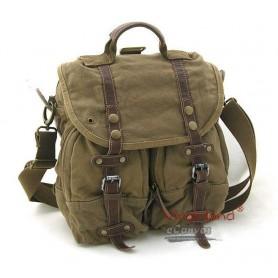 Shoulder messenger bag, mens backpack, khaki,black