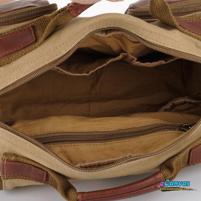 Retro Fanny Pack Khaki Mens Large Capacity Pack E