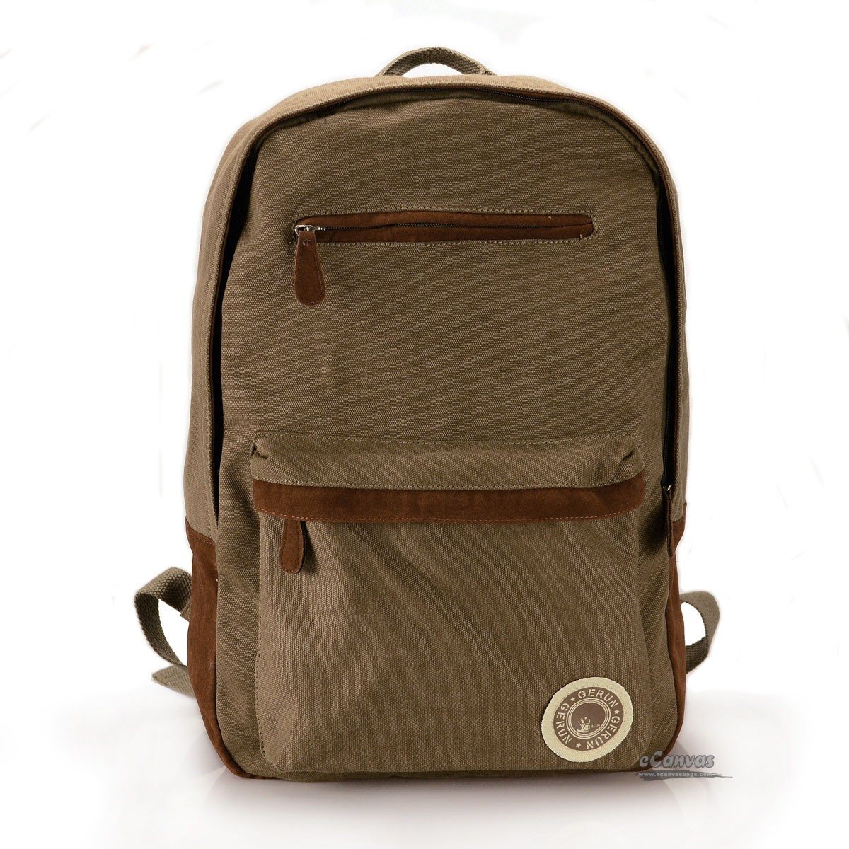 Traveling backpack, canvas coffee school book bag - E-CanvasBags