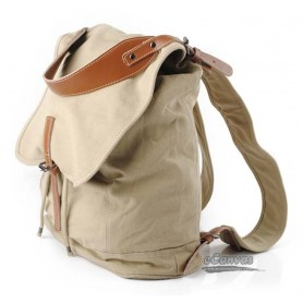 khaki men's bag, women bag, retro canvas backpacks