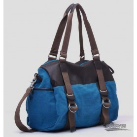 blue canvas messenger bag