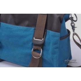 blue canvas messenger bag for lovers