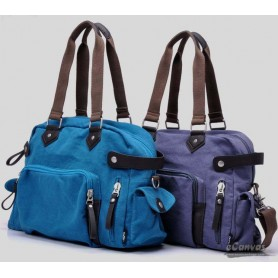 Canvas handbag blue