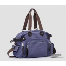 Canvas handbag purple for couples