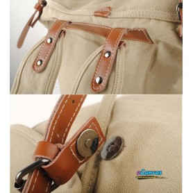 khaki retro canvas backpacks