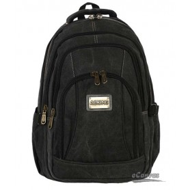 canvas computer travel bag black