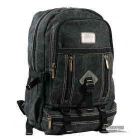 canvas school laptop bag black