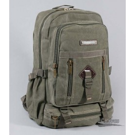 canvas school laptop bag, army green