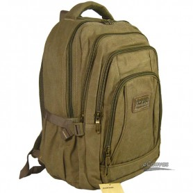 canvas computer travel bag khaki