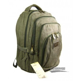 canvas computer travel bag, army green