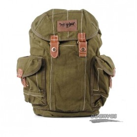 Neutral fashion leisure backpack for male and female, army green & black