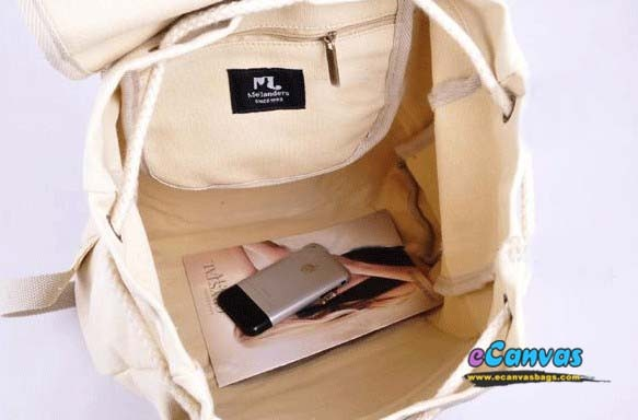 Canvas student book bag, lightweight backpack for men and women ...