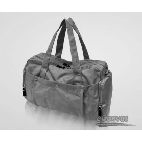 Canvas satchel grey