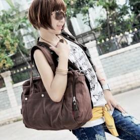 Canvas satchel coffee