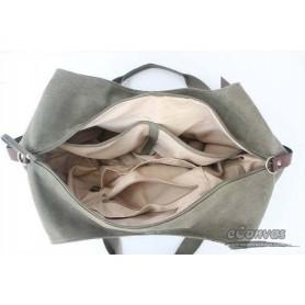 ladies Canvas handbag grey