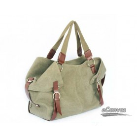 Canvas handbag army green