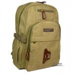 Canvas large travel bag khaki
