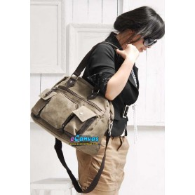 Canvas multi purpose bag coffee for women