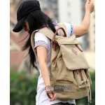 Outdoor traveling backpack multi purpose bag for womens black khaki