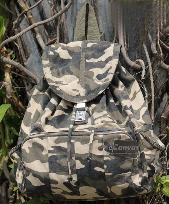 82e8bf0ad199 Canvas backpack with code locks beige black camo - E-CanvasBags